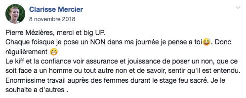 Temoignage Clarisse Mercier